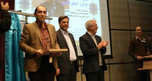 From left: Dr. Faramarz Ashenai Ghasemi (Top Researcher of the University), Dr. Hamid Reza Azemati (President of the University), Dr. Mahdi Navid Adham (Secretary-General of the Ministry of Education) and Abbas Shah Ali (ٍExpert of Research and Technology of VP of the University) - Dec. 2015