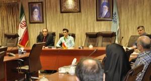 Shahid Rajaee Teacher Training University, Cultural Meeting on Permanent and World Satire, From left: Abbas Ahmadi (Translator), Faramarz Ashenai Ghasemi (Writer) and M. H. Nikounejad (V. P. of Social and Cultural affairs, June 2015